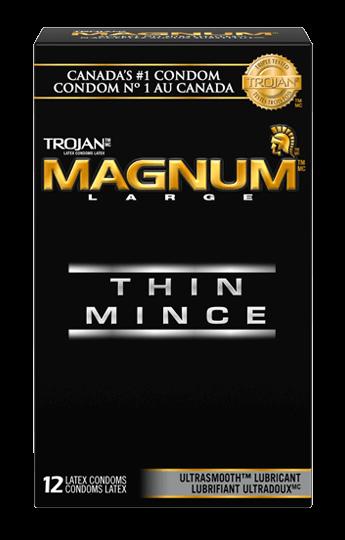 Trojan Magnum Thin Large Size Condoms Condoms Canada