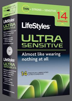 Lifestyles ultra sensitive condom