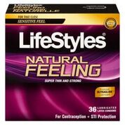 LifeStyles Natural Feeling Condoms-36 Pack