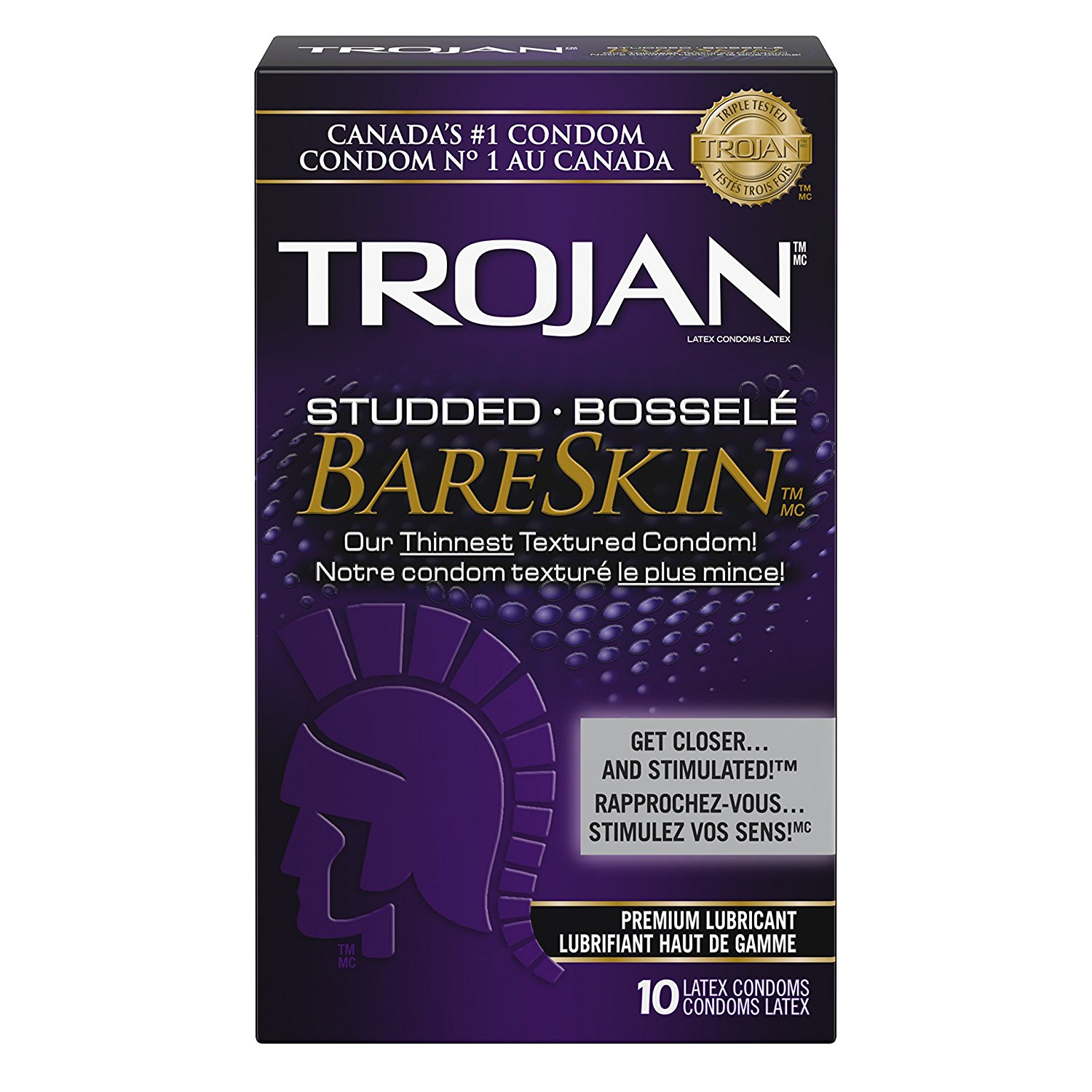 Trojan BareSkin Condoms-Studded