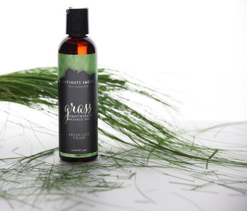 Intimate Earth Aromatherapy Massage Oil Fresh Cut Grass