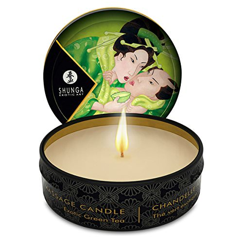Shunga Massage Candle Exotic Green Tea 1oz