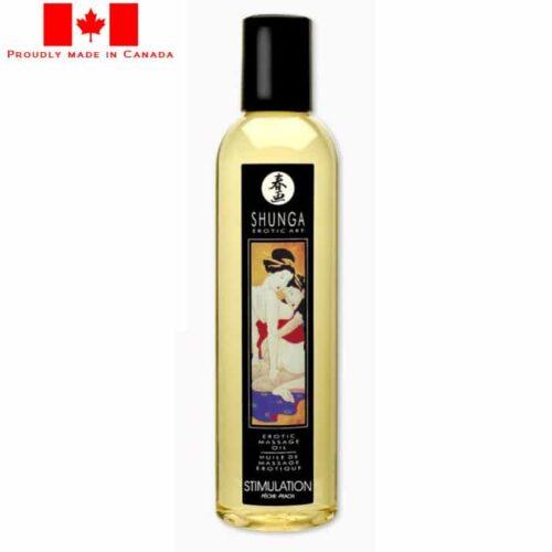 Shunga Erotic Massage Oil-Stimulation peach