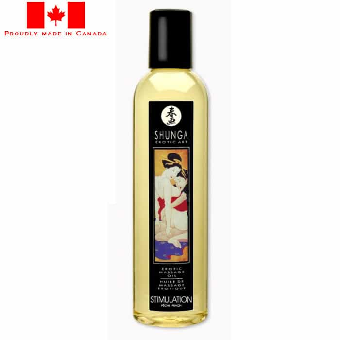 Shunga Erotic Massage Oil-Stimulation peach