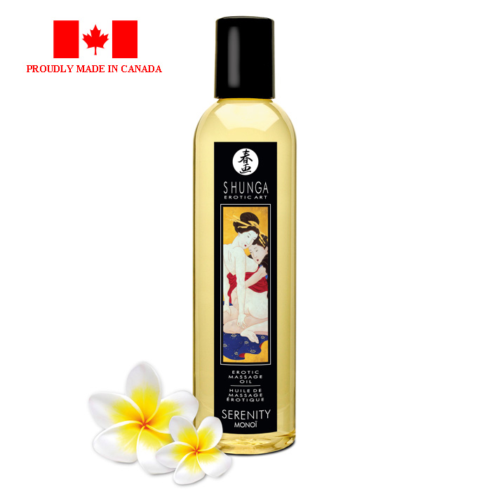 Shunga Erotic Massage Oil-Serenity Monoi