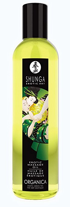 Shunga Massage Oil-Organic Green Tea