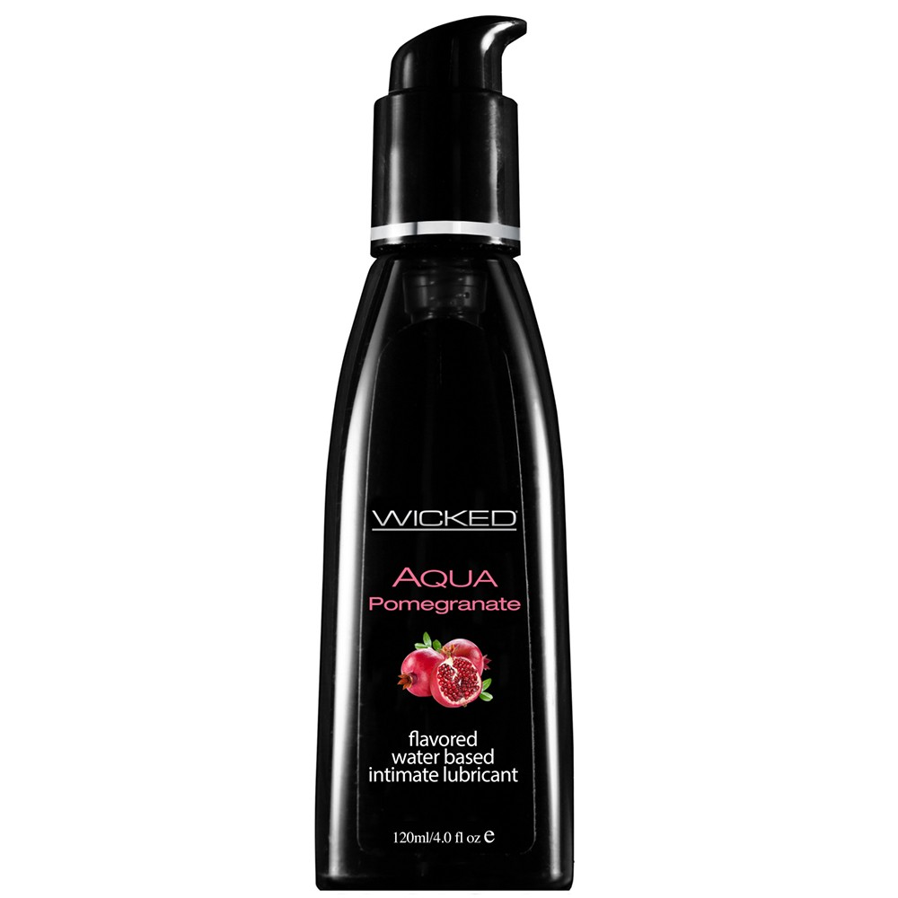 Wicked Sensual Care Aqua Lubricant Pomegranite-4oz