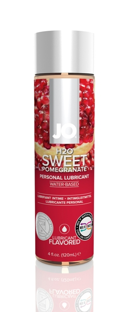 Jo H2O Flavoured Lubricants-Sweet Pomegranite-4oz