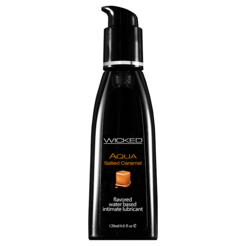 Wicked Sensual Care Aqua Lubricant-Salted Caramel-4oz