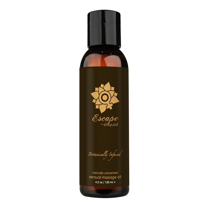 Sliquid Organics Massage Oil-Escape-Unscented-4.2oz