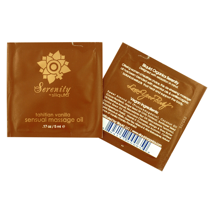 Sliquid Organics Massage Oil-Tahitian Vanilla Sample Pac