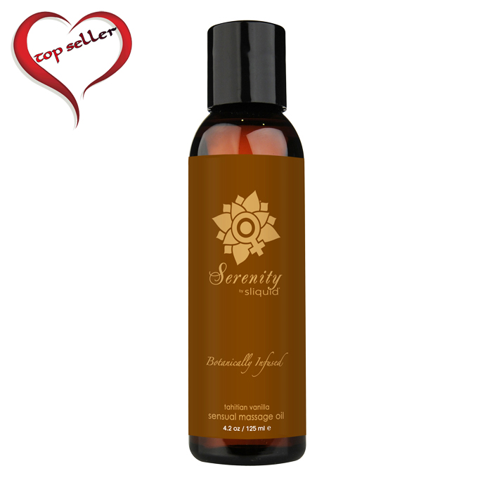 Sliquid Organics Massage Oil-Serenity-Tahitian Vanilla