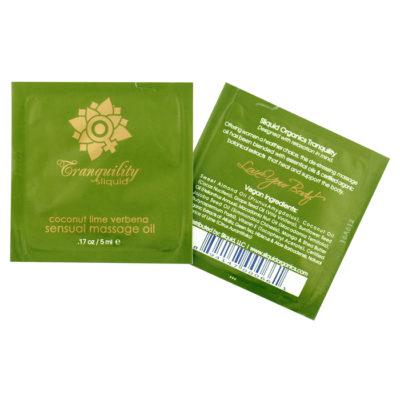 Sliquid Organics Massage Oil Pillow Pack-Tranquillity-Coconut Line-Verbena-5ml