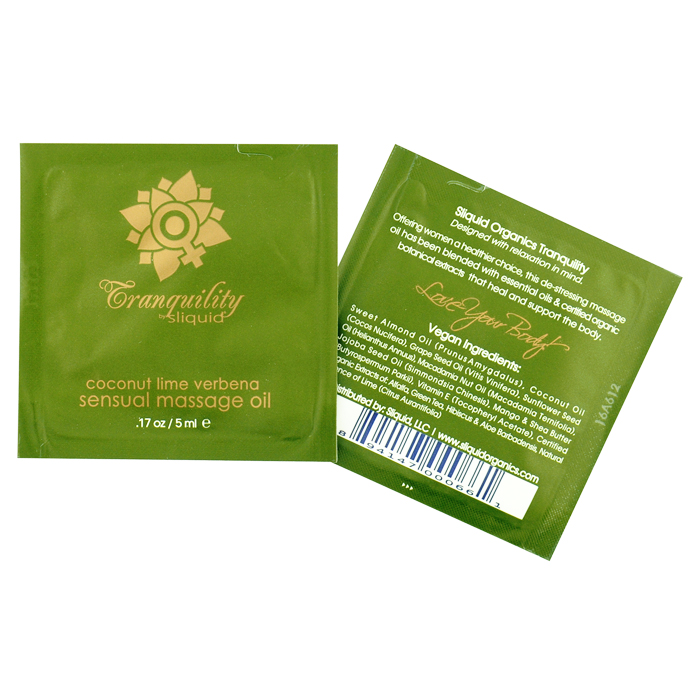 Sliquid Organics Maage Oil Pillow Pac-Tranquillity-Coconut Line-Verbena-5ml