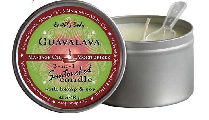 Earthly Body 3-in-1 Massage Candle-Guavalava