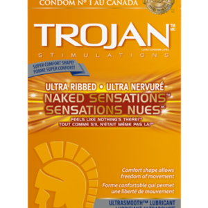 Trojan Ultra ribbed-Naked Sensations