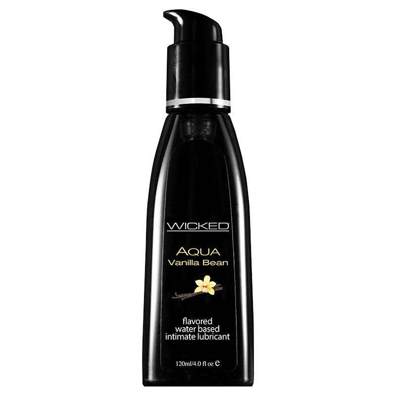 Wicked Aqua Vanilla Bean Lubricant-4 oz